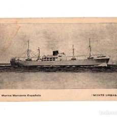 Postales: BARCO.- MARINA MERCANTE ESPAÑOLA. MONTE URBASA.. Lote 191618111