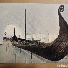 Cartes Postales: OSEBERGSKIPET. THE OSEBERG SHIP. ESCRITA.. Lote 191722198