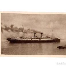 Postales: BARCO ROMA. EXPOSICIÓN BARCELONA. 32.600 TONS. 4 HÉLICES. ITALIAN LINE, MEDITERRÁNEO. NORTE AMÉRICA.. Lote 192191718