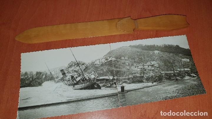 EFECTOS DESPUES DE TEMPORAL EN LA COSTA, POSTAL FOTOGRAFICA PANORAMICA, SIN DATOS DE EDICION (Postales - Postales Temáticas - Barcos)
