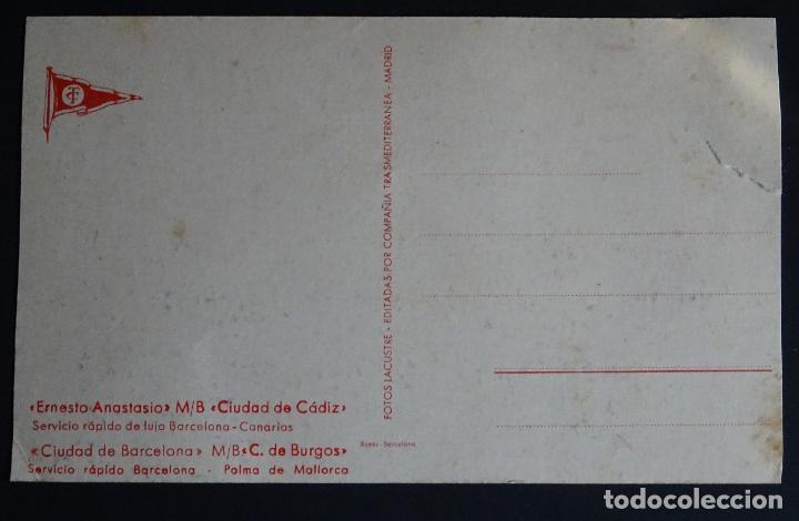 Postales: buque Ernesto Anastasio, compañia Transmediterranea, postal sin circular, con pequeña rotura lateral - Foto 2 - 194489373