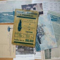 Postales: POSTALES MARÍTIMAS Y PATRIÓTICAS. SERIE VERDE. ED.E.AGACINO.BARCELONA.. Lote 194884860