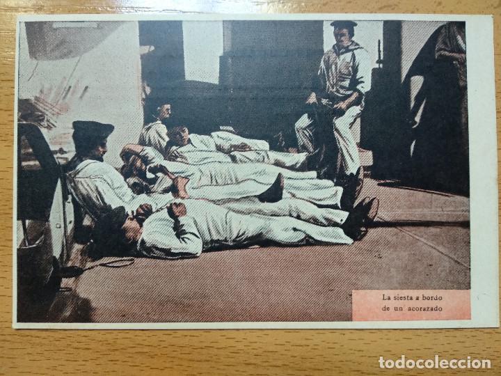 Postales: Postales Marítimas y Patrióticas. Serie verde. Ed.E.Agacino.Barcelona. - Foto 3 - 194884860