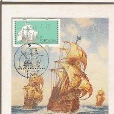 Postales: PORTUGAL & MAXI, DESCOBERTAS, CARABELA PORTUGUESA, EDICIÓN DEL MUSEO DE LA MARINA, LISBOA 1993 (7075. Lote 195020973