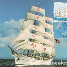 Postales: PORTUGAL & MAXI, REGATA VASCO DA GAMA, BARCO SAGRES, LISBOA 1998 (204). Lote 195023540