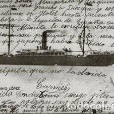 Postales: VAPOR ANTONIO LÓPEZ - POSTAL DE CONCEPCIÓN ALFAYA LÓPEZ PROFESORA DE LA ESCUELA DE MAESTRAS DE LEÓN. Lote 195046730