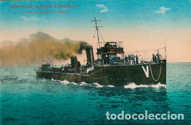 POSTAL BARCO MARINA DE GUERRA ESPAÑOLA - 8 CONTRATORPEDERO VILLAMIL (Postales - Postales Temáticas - Barcos)