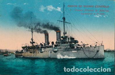 POSTAL BARCO MARINA DE GUERRA ESPAÑOLA - 5 CRUCERO PRINCESA DE ASTURIAS HACIENDOSE A LA MAR (Postales - Postales Temáticas - Barcos)