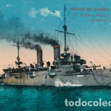 Postales: POSTAL BARCO MARINA DE GUERRA ESPAÑOLA - 5 CRUCERO PRINCESA DE ASTURIAS HACIENDOSE A LA MAR. Lote 195068613