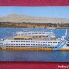Postales: POSTAL SHERATON NILE CRUISES CRUCEROS DEL NILO EGYPT EGIPTO LUXURIOUS TUT ATON ANNI HOTP BARCO BOAT. Lote 195085106