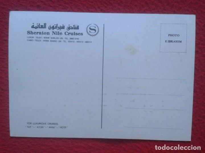 Postales: POSTAL SHERATON NILE CRUISES CRUCEROS DEL NILO EGYPT EGIPTO LUXURIOUS TUT ATON ANNI HOTP BARCO BOAT - Foto 2 - 195085106