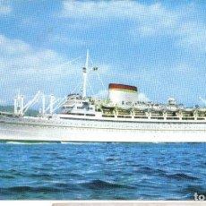 Postales: M/N GIULIO CESARE. ANTIGUA POSTAL-ITALIA, SOCIETA DI NAVEGAZIONE. Lote 195123333