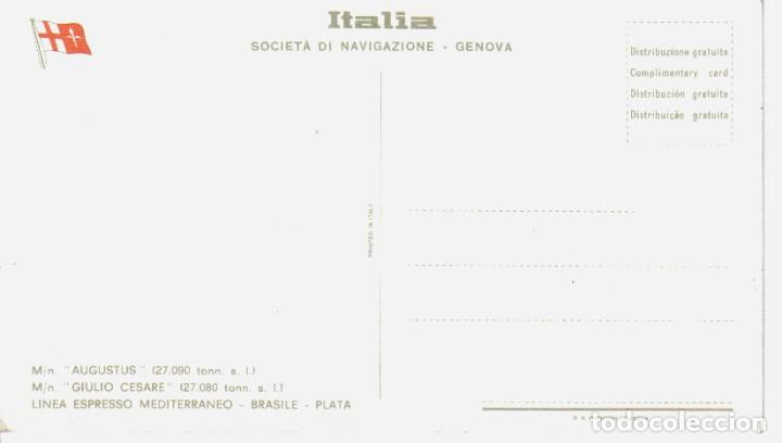 Postales: M/n Giulio Cesare. antigua postal-Italia, SOCIETA DI NAVEGAZIONE - Foto 2 - 195123333