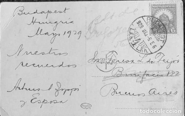 Postales: Antigua Postal, Navio de pasajeros surcando el Danubio - Foto 2 - 195153525