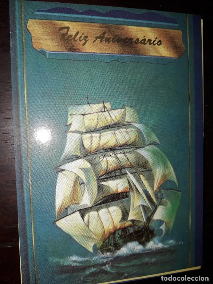 Nº 36285 POSTAL PORTUGAL BARCO FELIZ ANIVERSARIO (Postales - Postales Temáticas - Barcos)