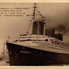 Cartes Postales: TRANSATLANTIQUE, NORMANDIE. Lote 195738617