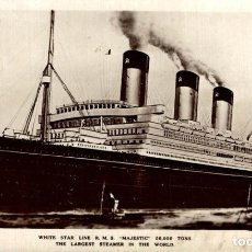 Cartes Postales: WHITE STAR LINE R.M.S. MAJESTIC PAQUEBOTE SHIP. Lote 195750212