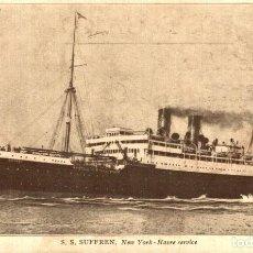 Cartes Postales: BATEAUX - PAQUEBOT SS SUFFREN NEW YORK HAVRE SERVICE. Lote 195751760