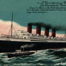 Cartes Postales: LE TRANSATLANTIQUE FRANCE ORION, ORIENT LINE. CARGO SHIP. Lote 195765706