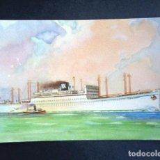 Postales: POSTAL BARCO. CABO DE BUENA ESPERANZA. CABO DE HORNOS. IBARRA Y CIA. . Lote 195987445