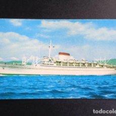 Postales: POSTAL BARCO. AUGUSTUS. GIULIO CESARE. ITALIA. GENOVA. LINEA EXPRESSO MEDITERANEO.. Lote 195987616