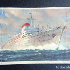 Postales: POSTAL BARCO. AUGUSTUS. SOCIETA DI NAVIGAZIONE. ITALIA. GENOVA. CIRCULADA.. Lote 195987868