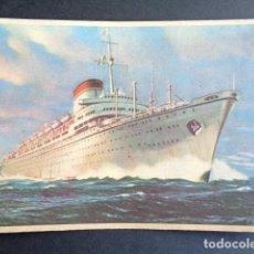 Postales: POSTAL BARCO. AUGUSTUS. SOCIETA DI NAVIGAZIONE. ITALIA. GENOVA.. Lote 195987966