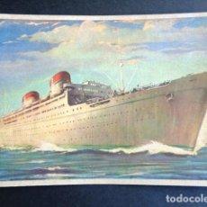 Postales: POSTAL BARCO. CONTE GRANDE. CONTE BIANCAMANO. SOCIETA DI NAVIGAZIONE. GENOVA. ITALIA. . Lote 195988300