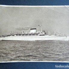 Postales: POSTAL BARCO. AUGUSTUS. GIULIO CESARE. SOCIETA DI NAVIGATIONE. ITALIA. GENOVA.. Lote 195988716