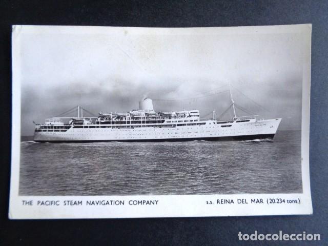 POSTAL BARCO. THE PACIFIC STEAM NAVIGATION COMPANY. REINA DEL MAR. CIRCULADA. AÑO 1964. (Postales - Postales Temáticas - Barcos)