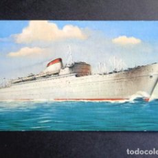 Postales: POSTAL BARCO. DONIZETTI. ROSINI. VERDI. LINEA SUR PACÍFICO. AMÉRICA CENTRAL. MEDITERRANEO. ITALIA. . Lote 195990230