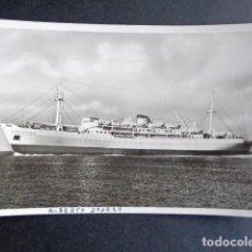 Postales: POSTAL BARCO. MINISTERIO DE TRANSPORTE DE LA NACIÓN. CIA ARGENTINA NAVEGACIÓN ALBERTO DODERO FANU.. Lote 195990986