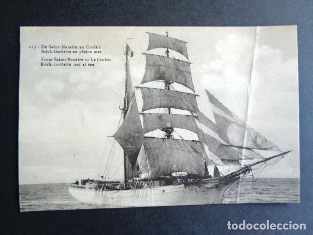POSTAL BARCO. DE SAINT NAZAIRE AU CROISIC. (Postales - Postales Temáticas - Barcos)