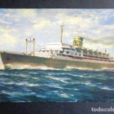 Postales: POSTAL BARCO. PAQUETE SANTA MARIA. COMPAÑÍA COLONIAL DE NAVEGACIÓN. . Lote 195993625