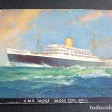 Postales: POSTAL BARCO. ANDES. . Lote 195994363