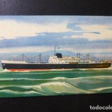 Postales: BARCO COMPAÑIA TRASATLANTICA ESPAÑOLA M/N GUADALUPE. Lote 196301852