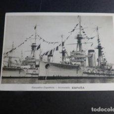 Postales: ACORAZADO ESPAÑA ARMADA ESPAÑOLA POSTAL FOTOGRAFICA AÑOS 20. Lote 196459035