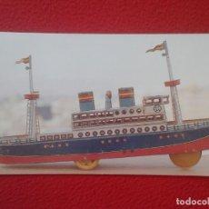 Postales: POSTAL POST CARD TRANSATLÀNTIC 1935 PAYÁ HERMANOS IBI ALACANT MUSEU DEL JOGUET DE CATALUNYA FIGUERES. Lote 196978701
