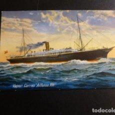 Postales: VAPOR CORREO ALFONSO XIII POSTAL. Lote 197023111