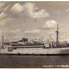 Postales: POSTAL MALLORCA - LLEGADA DEL VAPOR CORREO. Lote 197457686