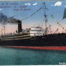 Postales: POSTAL BARCELONA - M.M. ESPAÑOLA - COMPAÑIA TRASATLANTICA - INFANTA ISABEL DE BORBON. Lote 197461457