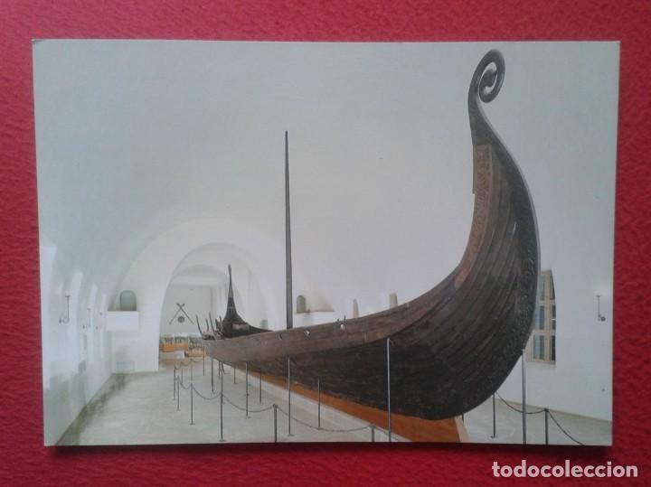 POSTAL CARTE POSTALE POST CARD GRAN TAMAÑO OSLO NORWAY NORUEGA NORGE THE VIKING SHIPS MUSEUM VIKINGO (Postales - Postales Temáticas - Barcos)