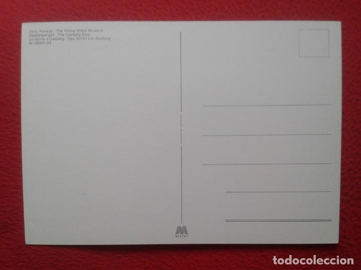 Postales: POSTAL CARTE POSTALE POST CARD GRAN TAMAÑO OSLO NORWAY NORUEGA NORGE THE VIKING SHIPS MUSEUM VIKINGO - Foto 2 - 197743137