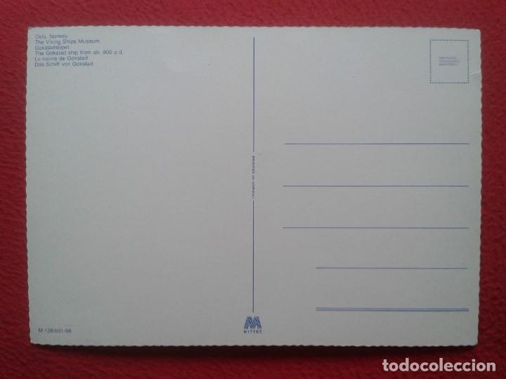 Postales: POSTAL CARTE POSTALE POST CARD GRAN TAMAÑO OSLO NORWAY NORUEGA NORGE THE VIKING SHIPS MUSEUM VIKINGO - Foto 2 - 197744257