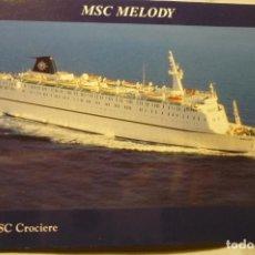 Postales: POSTAL MSC CROCIERE - MELODY. Lote 198832115