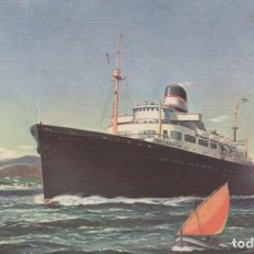 Postales: AMERICAN EXPORT LINES-THE 4 ACES. S.S. EXCAMBION, S.S EXOCHORDA, S.S. EXETER, S.S. EXCALIBUR.. Lote 199288676