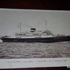 Postales: MOTONAVÍOS SATURNIA / VULCANIA. Lote 199331785