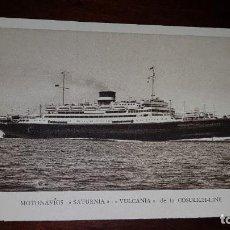 Postales: MOTONAVÍOS SATURNIA, VULCANIA. Lote 199331973