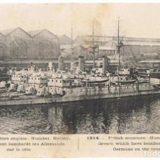 Postales: POSTAL MONITORS ANGLAIS 1914 . Lote 200809283