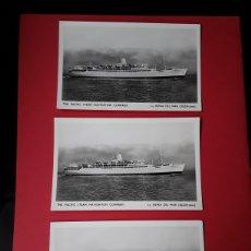 Postales: LOTE DE 3 POSTALES DEL REINA DEL MAR. Lote 200770643
